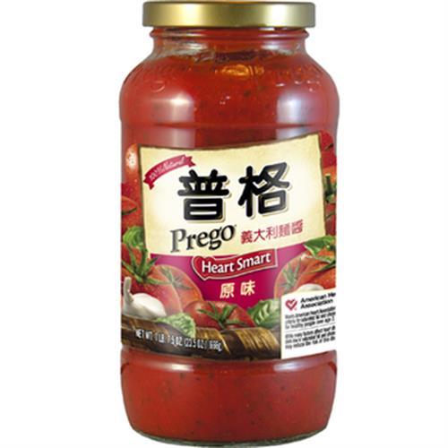 美國Prego 義大利麵醬-低脂低納(666g/瓶)