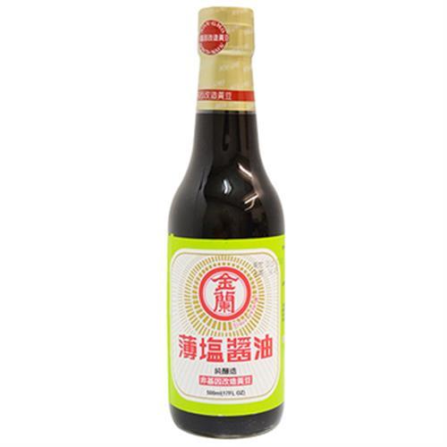 金蘭 薄鹽醬油(500ml/瓶)