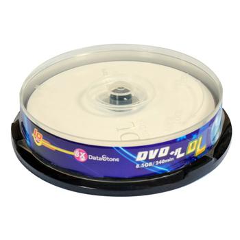 精選日本版 DataStone 正A級 DVD+R 8X DL 8.5GB 單面雙層 燒錄片(10片布丁桶X1)