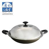 《清水》星鑽陶瓷雙耳不沾炒鍋(41cm/CZ-0888)