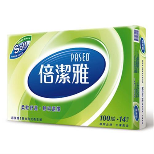 倍潔雅(倍舒柔) 超質感抽取衛生紙(100抽*14包/串)