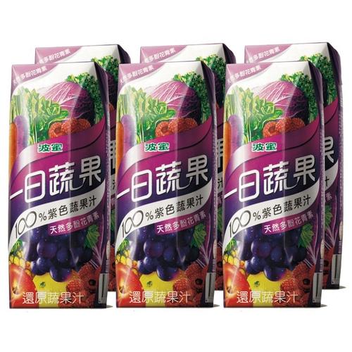 波蜜 一日蔬果100%紫色蔬果(250ml*6包/ 組)
