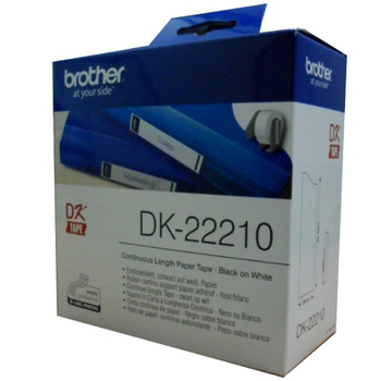 《Brother》DK-22210  耐久型紙質系列(29mm白底黑字)