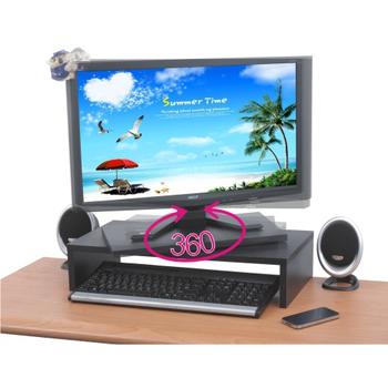 EASY HOME 360度旋轉式防水桌上型置物架(炫彩黑)