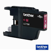 《Brother 》LC-73M 墨水匣 洋紅色《標準》