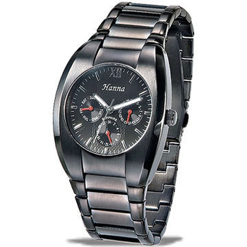 Hanna 疾風酷黑三眼中性腕錶H070260