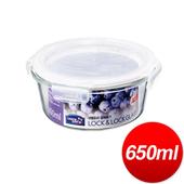 《樂扣》玻璃保鮮盒圓型650ML(155*75MM)