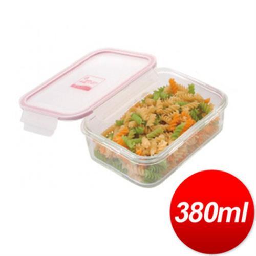 DR. RIN 長型耐熱玻璃保鮮盒-380ML(HS-3)