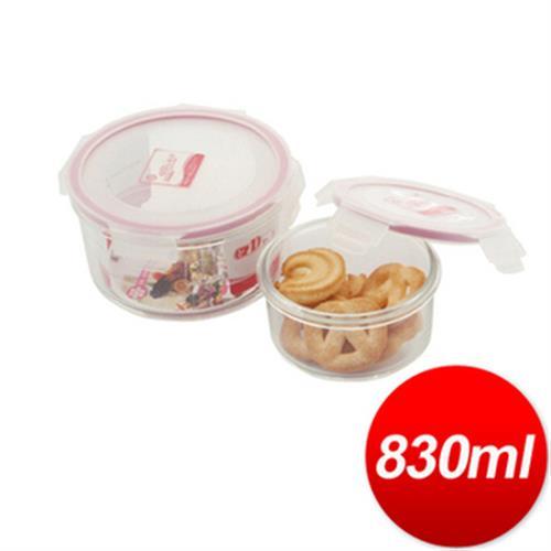 DR. RIN 圓型耐熱玻璃保鮮盒-830ML(HR-1)