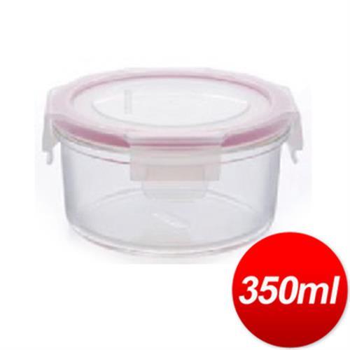 DR. RIN 圓型耐熱玻璃保鮮盒(350ML /HR-2)