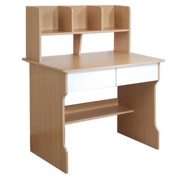 Frama 雙抽層架學生書桌 (木紋色)