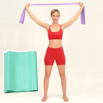 Sport-gym 天然乳膠~彈力帶~局部鍛鍊身體曲線美體拉力帶—進階用0.5mm厚(淡紫色)