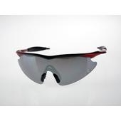 《Z-POLS》兒童專用款!烤漆質感一片式電鍍水銀黑舒適運動款太陽眼鏡(質感漸層黑紅款)