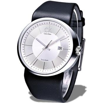 Calvin Klein trust 時尚個性腕錶(銀白)K0H21120