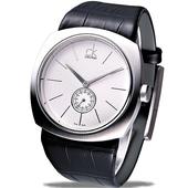 《Calvin Klein》新風潮大表徑時尚男錶(白)K9712120