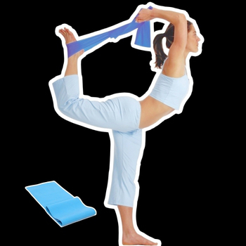Sport-gym 天然乳膠~彈力帶~局部鍛鍊身體曲線美體拉力帶—專業用0.65mm厚(淡藍色)
