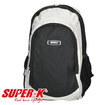 艾可兒 【SUPER-K】時尚亮彩休閒運動背包-K023(灰)