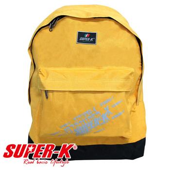 《艾可兒》【SUPER-K】超酷斑駁感燙印炫彩背包(黃)