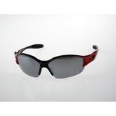 《Z-POLS》小朋友專用 ,烤漆質感黑紅搭電鍍水銀黑運動太陽眼鏡(黑紅漸層款)