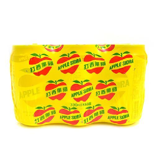 大西洋 蘋果西打(330ml*6罐/組)
