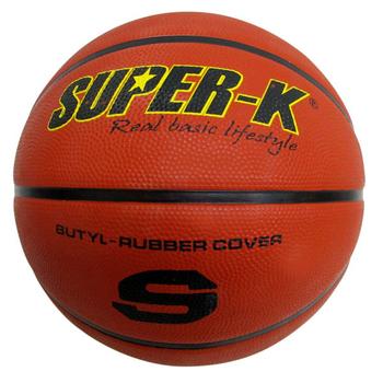 《SUPER-K》7號橡膠深溝籃球 SBCF702(紅)