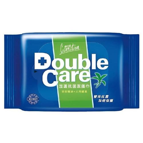 康乃馨 Double Care抗菌濕巾(20片x2包/組)