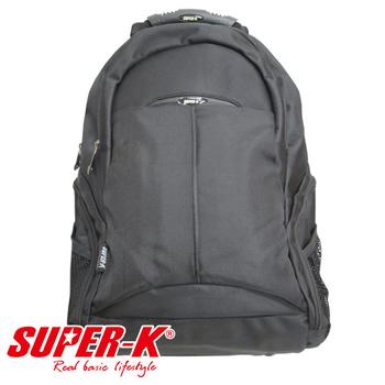 艾可兒 【SUPER-K】休閒電腦背包BS08117-黑