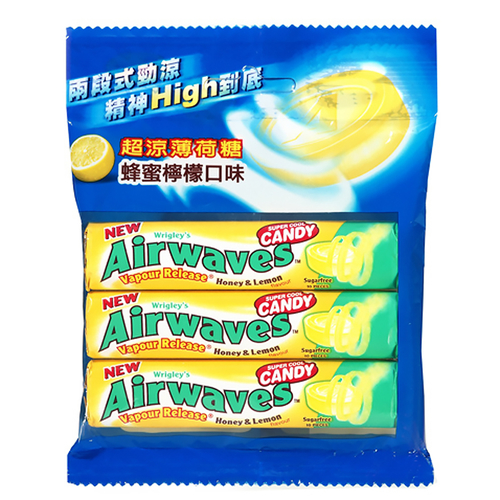 Airwaves 超涼薄荷糖-蜂蜜檸檬(10粒x3條/包)
