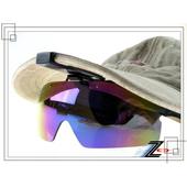 《Z-POLS》新款夾帽式可掀蓋頂級防爆抗UV4太陽眼鏡(PC七彩款)