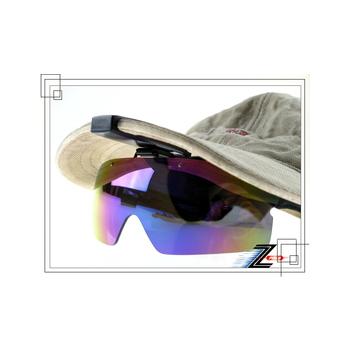 Z-POLS 新款夾帽式可掀蓋頂級防爆抗UV4太陽眼鏡(PC七彩款)