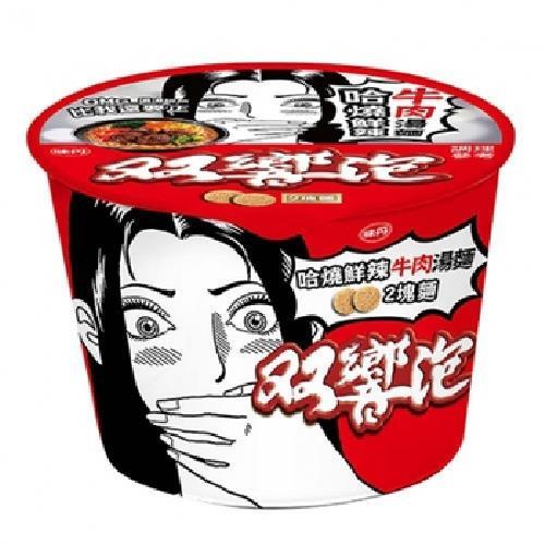 味丹 雙響泡哈燒鮮辣牛肉湯麵(109g*3桶/組)