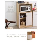 《Frama》雙門廚房收納櫃-雙色可選(白橡配白)