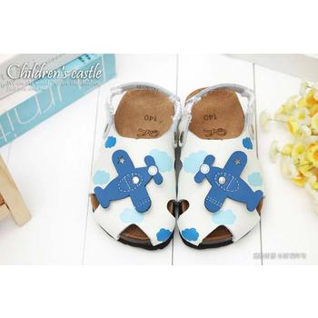 童鞋城堡 Roberta小飛機勃肯兩用拖涼鞋612612(藍18)
