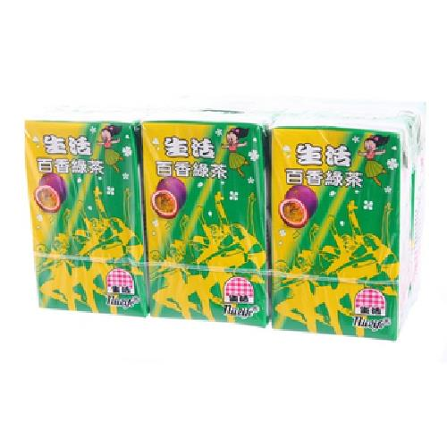 生活 泡沫百香綠茶(250mlx6包/組)