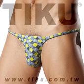 《TIKU 梯酷》雅格-超彈低腰三角男內褲(GY1152) 黃灰(L 腰圍29-32吋)