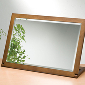 《BuyJM》奧莉薇桌上型化粧鏡(胡桃木)