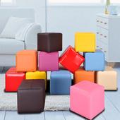 《BuyJM》Q比炫麗亮彩巧克力椅/超值二入/8色可選(黑)