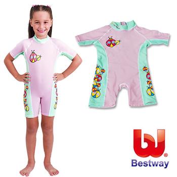 艾可兒 【Bestway】兒童抗UV連身泳衣-女