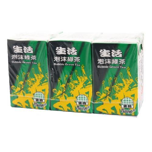 生活 泡沫綠茶(250mlx6包/組)