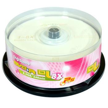 DigiStone 經典版 A級Plus 8X DVD+R DL 8.5GB單面雙層( 25片布丁桶裝)