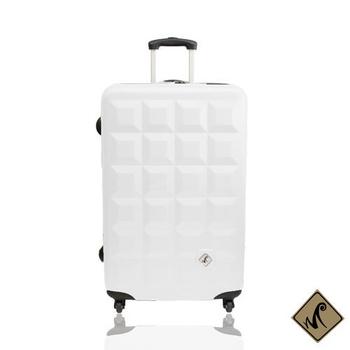 Miyoko 趣味巧克力系列ABS 28吋輕硬殼 旅行箱/行李箱(白色)