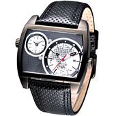 《ALBA》超級戰艦大錶徑雙時區腕錶(IP黑框)AR4041X1