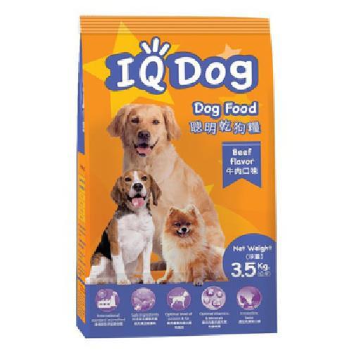 IQ Dog 聰明乾狗糧-牛肉口味(3.5kg/包)
