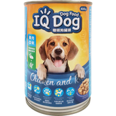 《IQ Dog》聰明狗罐頭-雞肉+米口味(400g/罐)
