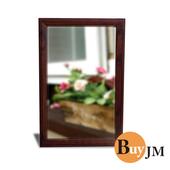 《BuyJM》優雅歐典實木壁鏡(胡桃木)