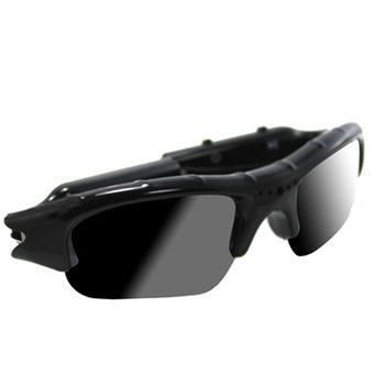 太陽眼鏡款多功能隱匿型針孔行車記錄器480P(黑)