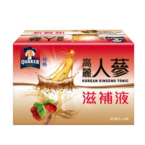 桂格 高麗人蔘滋補液(60ml 6入/盒)
