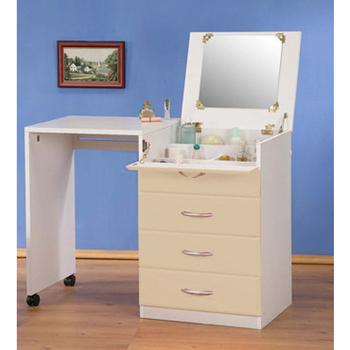 《C&B》創意兩用伸縮化妝桌櫃(米色)