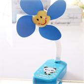 《魔法Baby》嬰兒推車用可愛造形安全夾飾風扇(藍熊貓)
