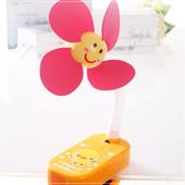 《魔法Baby》嬰兒推車用可愛造形安全夾飾風扇(黃小雞)